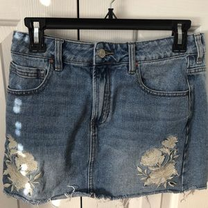 pac sun mini jean skirt